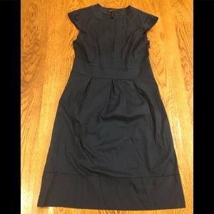 BCBG Max Azria Cotton Navy Blue midi dress